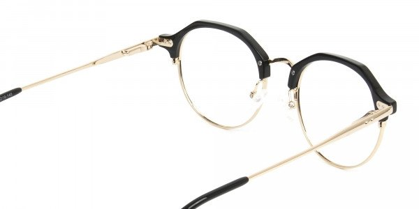 Gold & Black Weightless Glasses in Mixed Material - 5