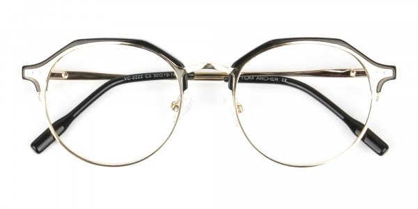 Gold & Black Weightless Glasses in Mixed Material - 6