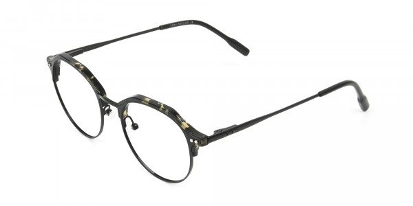Black Marble Weightless glasses in Mixed Material - 3