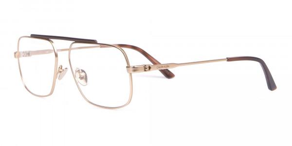 Calvin Klein CK18106 Gold Metal Glasses Rectangular-3