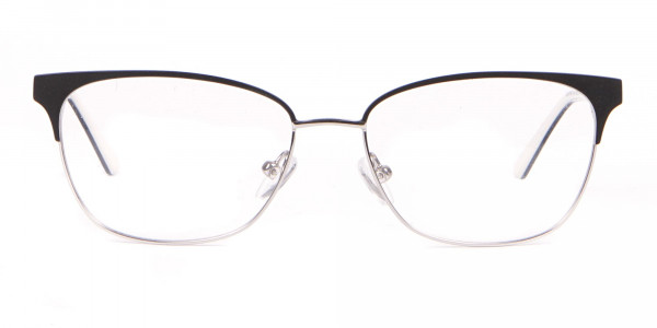 Calvin Klein CK18108 Women Rectangular Metal Glasses Black-1