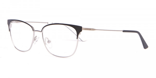 Calvin Klein CK18108 Women Rectangular Metal Glasses Black-3