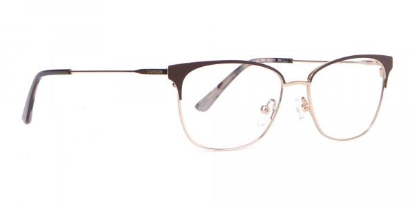 Calvin Klein CK18108 Women Rectangular Metal Glasses Brown-2