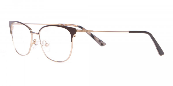 Calvin Klein CK18108 Women Rectangular Metal Glasses Brown-3