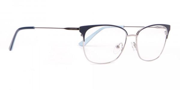 Calvin Klein CK18108 Women Rectangular Metal Glasses Navy-2