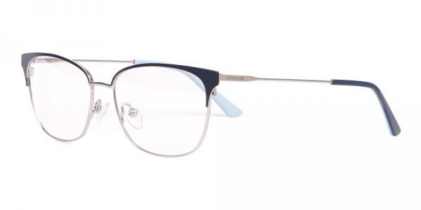 Calvin Klein CK18108 Women Rectangular Metal Glasses Navy-3
