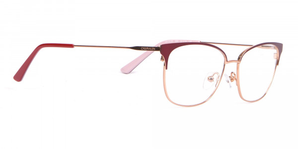Calvin Klein CK18108 Women Rectangular Metal Glasses Red-2