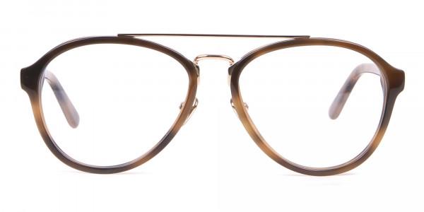 Clavin Klein CK18511 Aviator Pilot Glasses in Tortoise-1