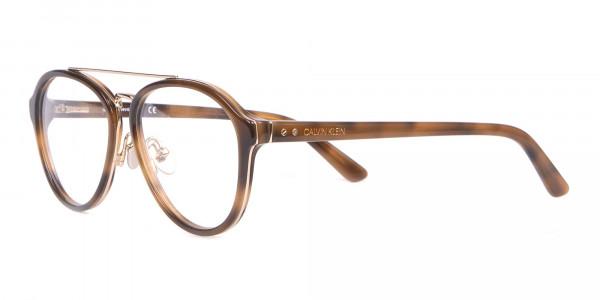 Clavin Klein CK18511 Aviator Pilot Glasses in Tortoise-3