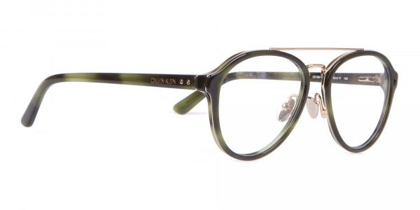 Clavin Klein CK18511 Aviator Pilot Glasses Green Tortoise-2