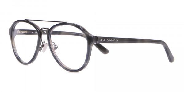 Clavin Klein CK18511 Aviator Pilot Glasses Grey Tortoise-3