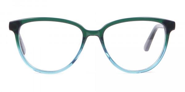 Calvin Klein CK18514 Women Cateye Glasses In Teal Green-1