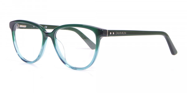 Calvin Klein CK18514 Women Cateye Glasses In Teal Green-3