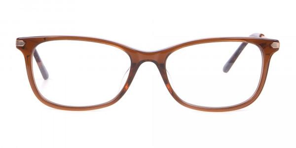 Calvin Klein CK18722 Brown Cat-Eye Rectangular Frame-1