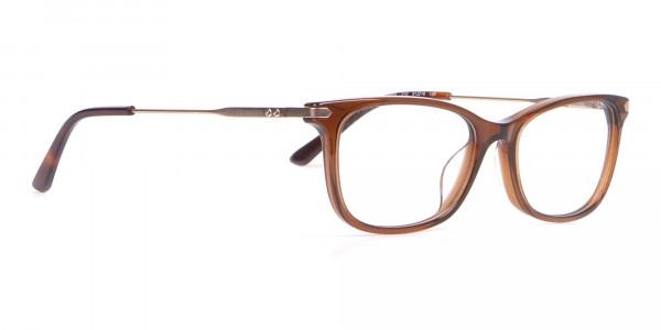 Calvin Klein CK18722 Brown Cat-Eye Rectangular Frame-2