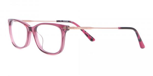 Calvin Klein CK18722 Cat-Eye Rectangular Frame Rosy Pink-3