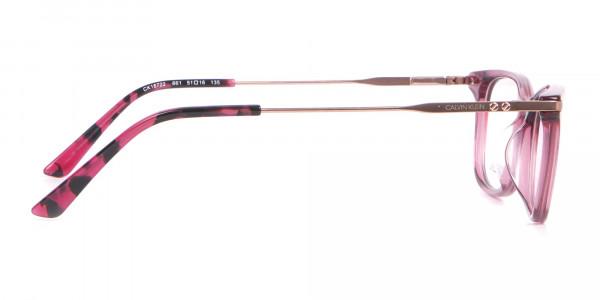 Calvin Klein CK18722 Cat-Eye Rectangular Frame Rosy Pink-4