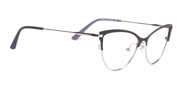 Calvin Klein CK19111 Women's Cat-Eye Browline Glasses Black-2