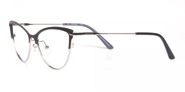 Calvin Klein CK19111 Women's Cat-Eye Browline Glasses Black-3