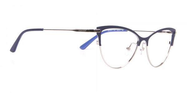Calvin Klein CK19111 Women Cat-Eye Browline Glasses Navy -2