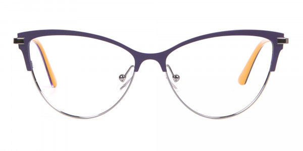 Calvin Klein CK19111 Women Cat-Eye Browline Glasses Purple-1