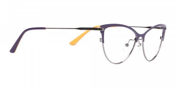 Calvin Klein CK19111 Women Cat-Eye Browline Glasses Purple-2