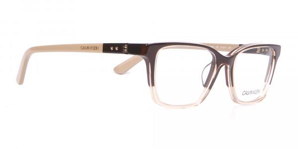 Calvin Klein CK19506 Two-Toned Rectangular Glasses Brown-2