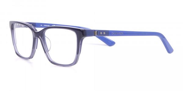 Calvin Klein CK19506 Two-Toned Retangular Glasses In Blue-3