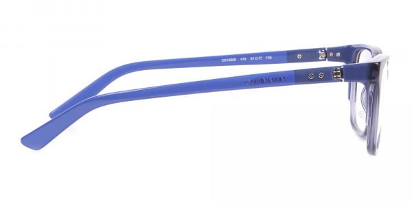 Calvin Klein CK19506 Two-Toned Retangular Glasses In Blue-4