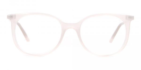 Calvin Klein CK19508 Milky White Classic Round Glasses-1