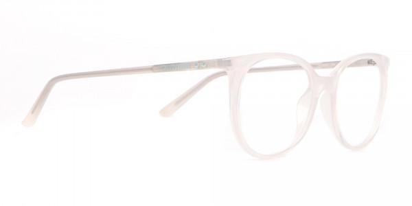 Calvin Klein CK19508 Milky White Classic Round Glasses-2