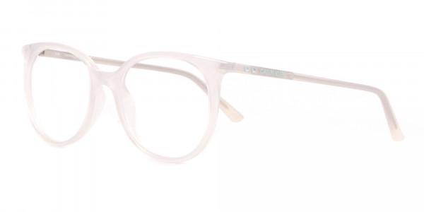 Calvin Klein CK19508 Milky White Classic Round Glasses-3