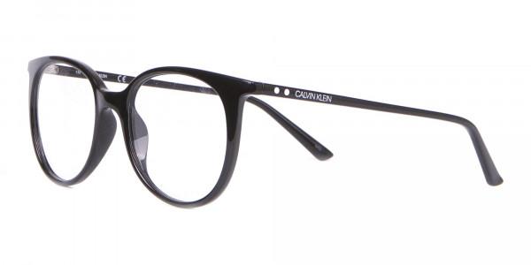 Calvin Klein CK19508 Unisex Black Classic Round Glasses-3