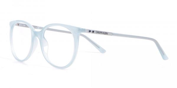Calvin Klein CK19508 Milky Blue Classic Round Glasses-3