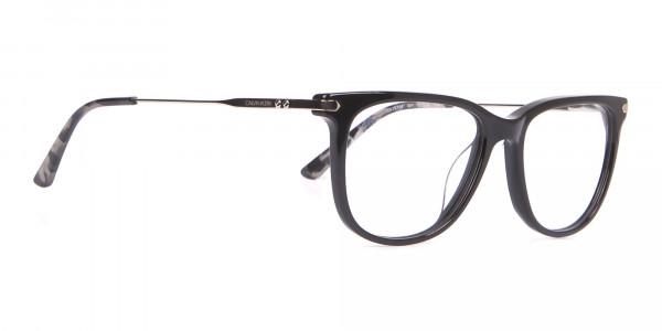 Calvin Klein CK19704 Wayfarer Glasses In Glossy Black-2