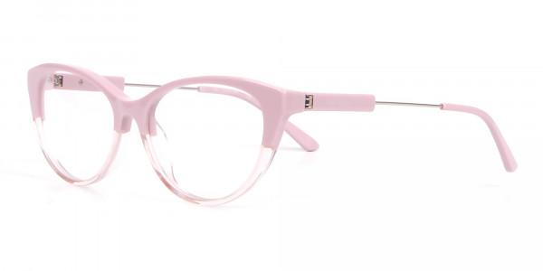 Calvin Klein CK19706 Women Two Tone Cat-Eye Glasses Pink-3