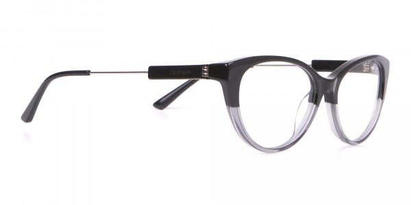 Calvin Klein CK19706 Women Two Tone Cat-Eye Glasses Black-2