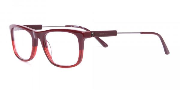 Calvin Klein CK19707 Two-Tone Rectangular Glasses Red-3