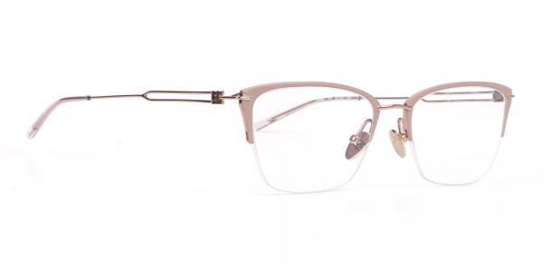 Calvin Klein CK8065 Women Titanium Half-Rimmed Glasses Nude-2