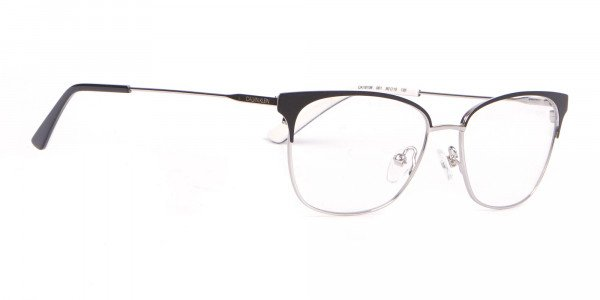 Calvin Klein CK18108 Women Rectangular Metal Glasses Black-2