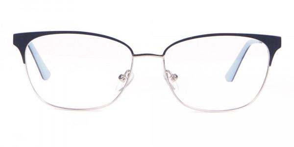 Calvin Klein CK18108 Women Rectangular Metal Glasses Navy-1