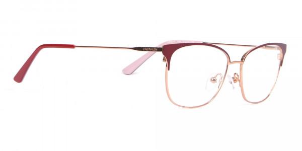 Calvin Klein CK18108 Women Rectangular Metal Glasses Red-2