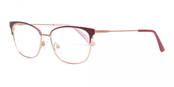 Calvin Klein CK18108 Women Rectangular Metal Glasses Red-3