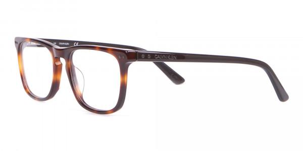 Calvin Klein CK18513 Rectangular Glasses in Brown Tortoise-3