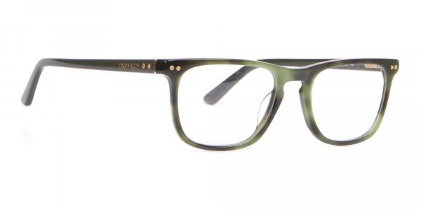 Calvin Klein CK18513 Rectangular Glasses in Green Tortoise-2
