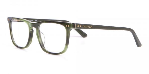 Calvin Klein CK18513 Rectangular Glasses in Green Tortoise-3