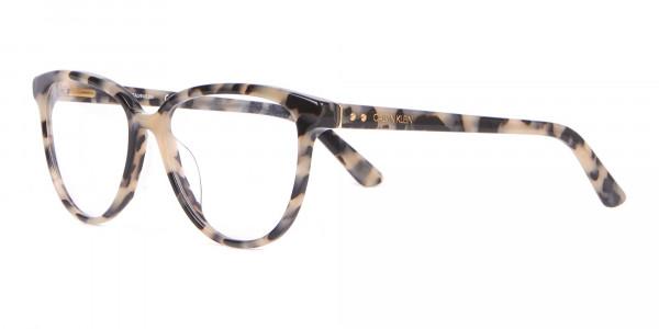 Calvin Klein CK18514 Women Cateye Glasses Cream Tortoise-3