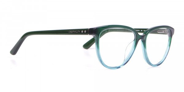 Calvin Klein CK18514 Women Cateye Glasses In Teal Green-2