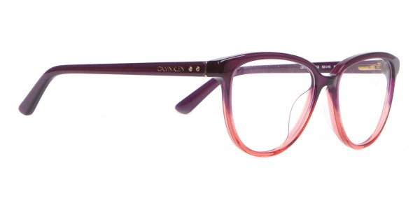 Calvin Klein CK18514 Women Cateye Glasses In Plum Coral-2