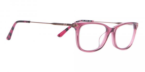 Calvin Klein CK18722 Cat-Eye Rectangular Frame Rosy Pink-2